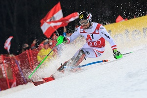 Marcel Hirscher, Action, Slalom, Nightrace, Planai