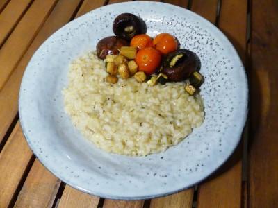 Risotto, Rosmarin, Gemüse, Tomaten, Zucchini, Pilze