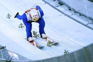 nordische kombination, skispringen, schanze, seefeld, 2019, anlaufspur, hocke