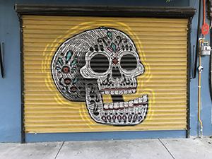 mexiko, reise, tipps, wandmalerei, streetart, totenkopf