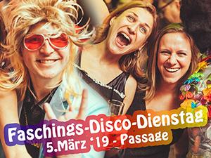 faschingsdienstag, partys, 2019, wien, babenberger passage, discofieber
