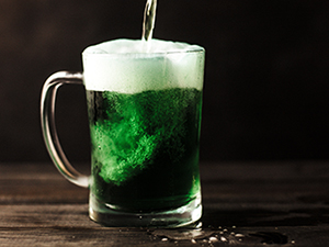 st. patricks day 2019, wien, green beer, grünes bier