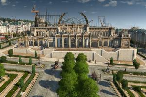anno 1800, aufbauspiel, simulation, monument, weltmesse, baustelle,