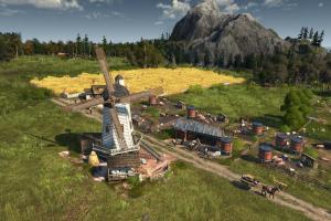 windmühle, landwirtschaft, spiel, aufbau,