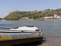 schlauchboot-tour, auwald, schlauchboot, wandern,