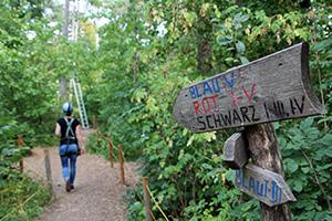 waldseilpark kahlenberg, klettern, parcours, route, kletterpark, wienerwald, schwierigkeitsgrade