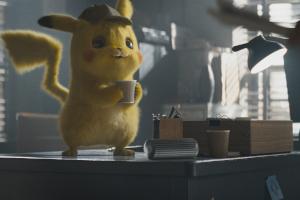pikachu, pokemon, meisterdetektiv pikachu, kaffee, büro, live-action, ryan reynolds,