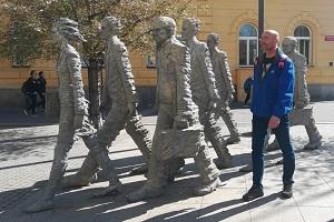 budweis, skulpturen, männer, aus stein