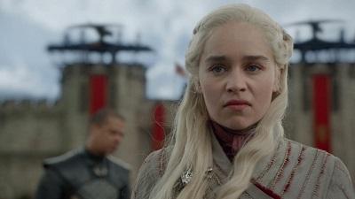 daenerys, wütender blick, grauer wurm, mauern, königsmund, game of thrones