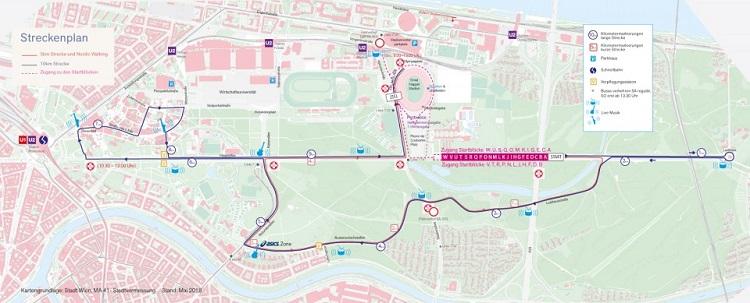 Frauenlauf 2019, Strecke, Karte, Plan
