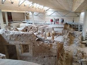 prähistorisches akrotiri, ausgrabung, bronzezeit, santorin, sehenswürdigkeiten