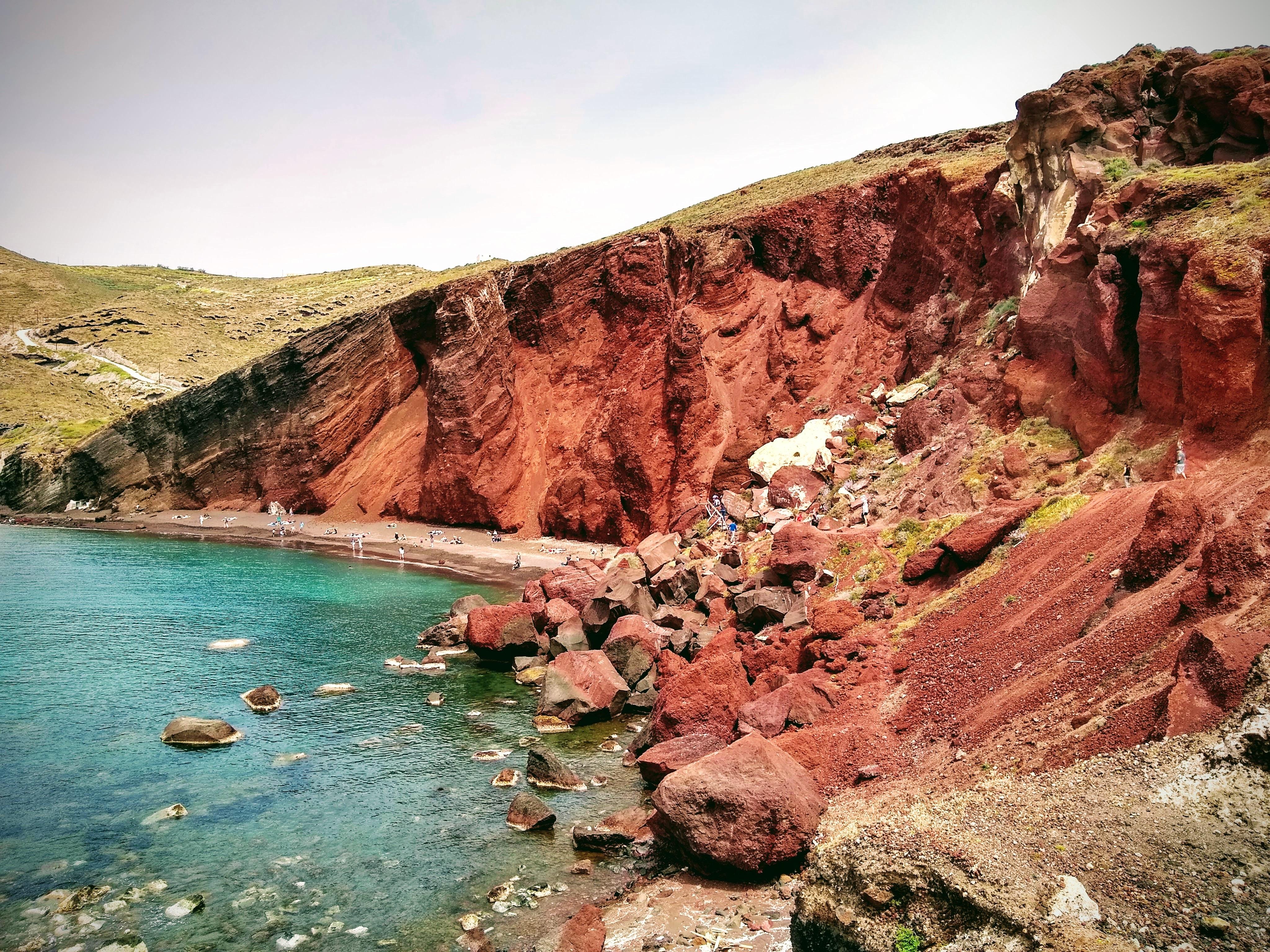schönster strand, santorin, red beach, empfehlung, nebensaison