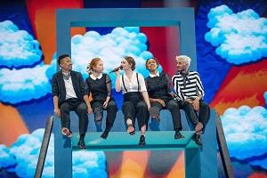 Dänemark, Love is Forever, Lieder, Song Contest, Tel Aviv, 2019, 5 Menschen sitzen, Wolken