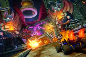 Crash, Racer, Game, Explosion, Zahnräder, Rennen, Bandicoot