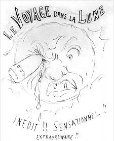 die reise zum mond, le voyage dans la luna, filmplakat, georges méliès, klassiker, mondfilm, 1902