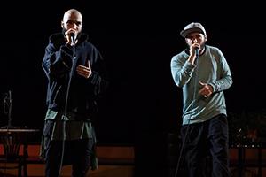 mouth o matic, beatbox, auftritt, zwei Männer