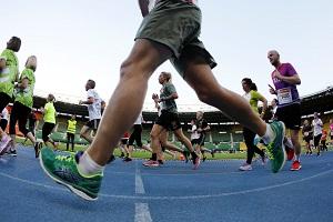 Happel-Stadion, Business Run, Runde, Leichtathletikbahn, Praterstadion