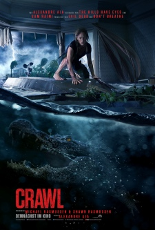 crawl, poster, alligator, poster, filmplakat