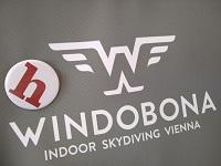 logos, helden der freizeit, windobona indoor skydiving vienna