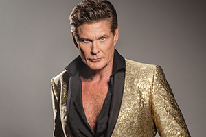 david hasselhoff, outfits, goldenes sacko
