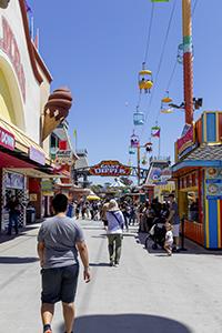 giant dipper, boardwalk, vergnügungspark, santa cruz, kalifornien, achterbahn, bunt