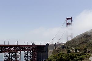 golden gate bringe, san francisco, kalifornien, brücke, fahrrad, urlaub, ferien, wahrzeichen