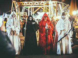 halloween, prater, umzug, kostüme
