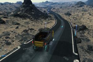death stranding, spielergenerierte struktur, straße, truck, wagen, mule-wagen,