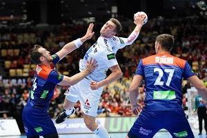 nikola bilyk, österreich gegen niederlande, handball, match, kapitän