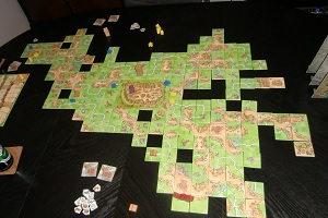 carcassonne, tisch, erweiterungen, turm, drache und burgfräulein, Wirtshäuser und Kathedralen, Händler und Baumeister
