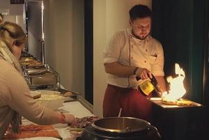 Flammen, Burger braten, All you can eat, Koch, Buffet, Arcotel Wimberger
