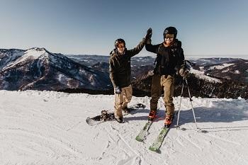 Kleiner Ötscher, Aussicht, Skifahrer, Snowboarder, Helden der Freizeit