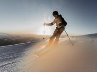 skifahrer, gemeindealpe, sonnenaufgang