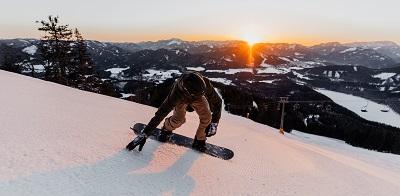 Christoph König, Snowboarder, Sonnenaufgang, Gemeindealpe, Erlaufsee