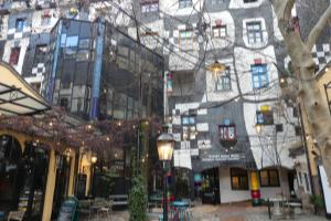 Kunsthaus Wien, Fassade, Architektur, Kunst, bunt, Gebäude, Laternen