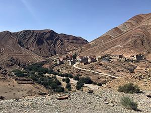 Berge, Dorf, Marokko, Süden