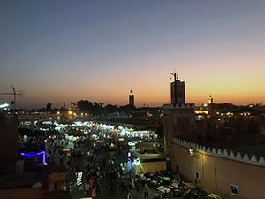 Marrakesch, Hauptplatz, Cafe, Marokko