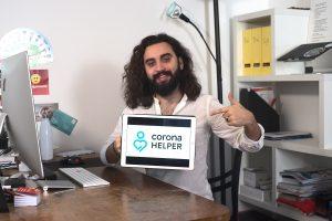 Der Coronahelper: Wie ein Student tausende Helfer mobilisiert