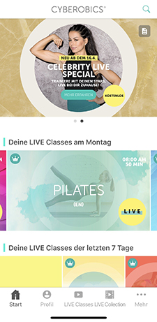 cyberobics, hollywood training, die besten fitness-apps