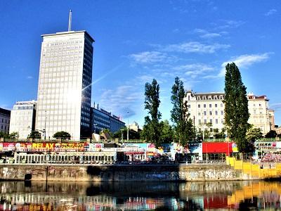Donaukanal, Ringturm, Grafitti