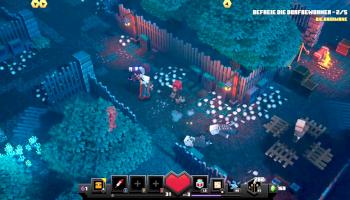 minecraft dungeons, illager, magier, villager, gefangene, lager,