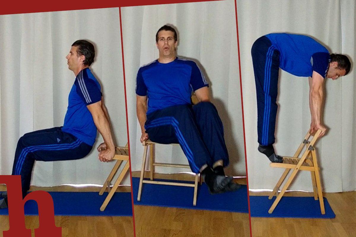 Ganzkörper-Training mit Sessel: 10 Übungen im Video