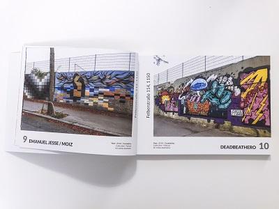 street art guide vienna aufgeschlagen
