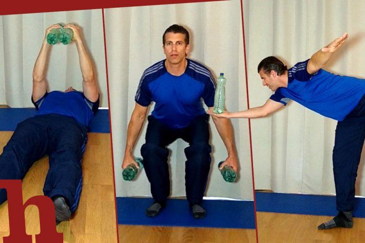 Ganzkörper-Workout mit Flaschen: 13 Übungen im Video