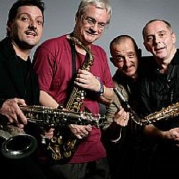 saxofour, saxophon, quartett, musiker