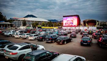 salzburg arena, drive-in, led-leinwand, autodisco,