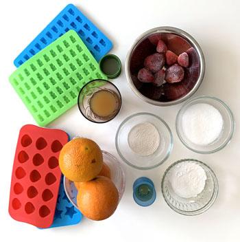 gummibärchen, zuckerfrei, frucht, formen
