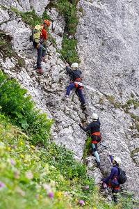 Hochkar Klettersteig Bermgmandl, Familie, Anfänger, Bergführer