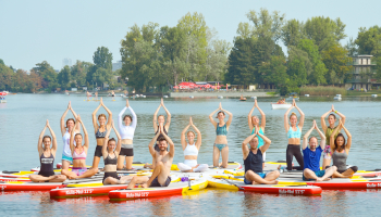 flotus, donauinsel, sup, stand up paddling, alte donau, sommer,