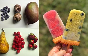 früchteeis, veganes eis selber machen, ohne eismaschine, gesund